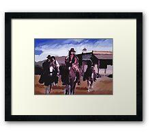Saloon Drifters Framed Print