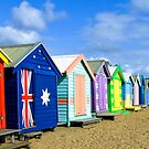 Beach Huts at Brighton Victoria by Pauline Tims
