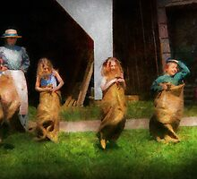 Children - The sack race  by Mike  Savad
