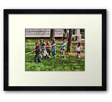 Children - Tug of War  Framed Print