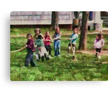 Children - Tug of War  Canvas Print
