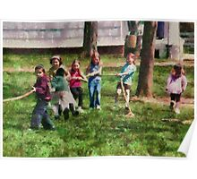 Children - Tug of War  Poster