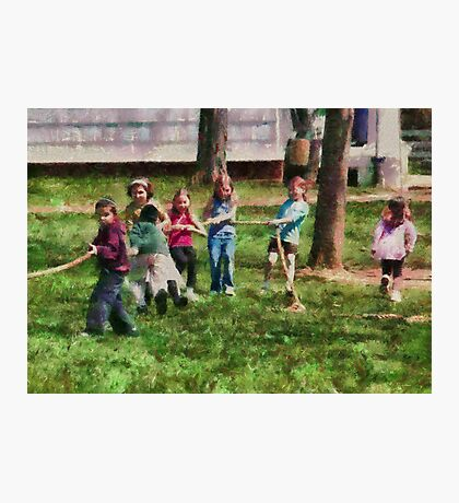 Children - Tug of War  Photographic Print