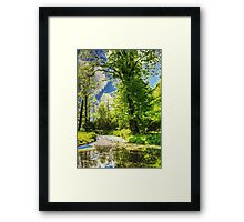 Autumn in the Park painting, oil painting, nature 1 Framed Print