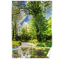 Autumn in the Park painting, oil painting, nature 1 Poster