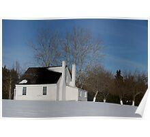 House in Winter Snow Poster