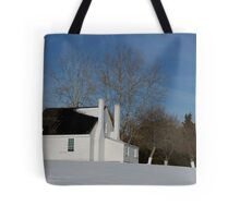 House in Winter Snow Tote Bag