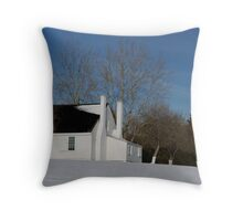 House in Winter Snow Throw Pillow