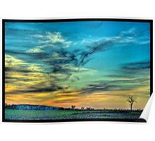 May Sunset in North Dakota Poster