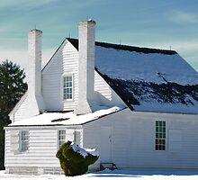 House in Winter Snow by Lee Walters Photography