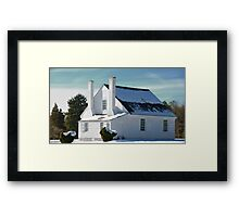House in Winter Snow Framed Print