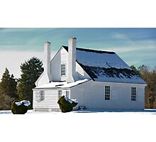 House in Winter Snow Photographic Print