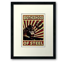 Brotherhood Of Steel Framed Print