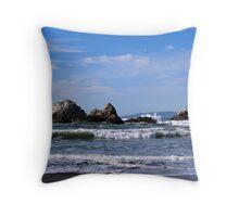Seal Rocks at Ocean Beach Throw Pillow