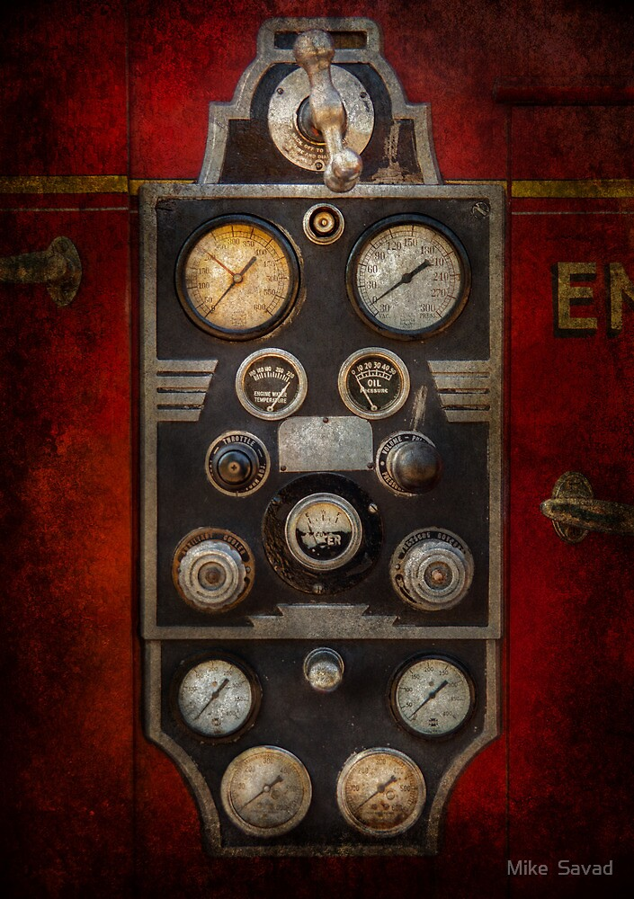 Fireman - Keep an eye on the pressure  by Mike  Savad