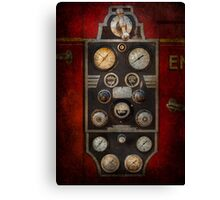 Fireman - Keep an eye on the pressure  Canvas Print