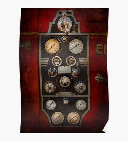 Fireman - Keep an eye on the pressure  Poster