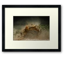Winter Waves At Pipeline 17 Framed Print
