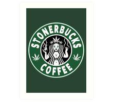 Stonerbucks Coffee Art Print