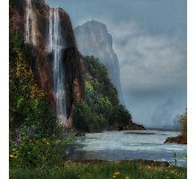 Tall Waterfall Photographic Print