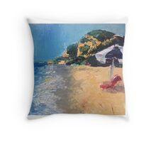 California beach  Throw Pillow