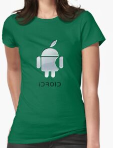 iDroid(text) Womens Fitted T-Shirt