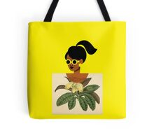 Ponytail Girl with Nature Shirt Tote Bag