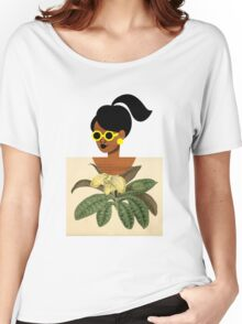 Ponytail Girl with Nature Shirt Women's Relaxed Fit T-Shirt