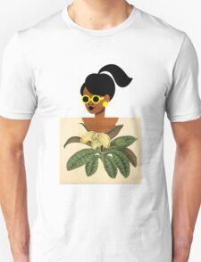 Ponytail Girl with Nature Shirt Unisex T-Shirt