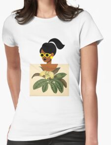 Ponytail Girl with Nature Shirt T-Shirt