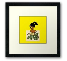 Ponytail Girl with Nature Shirt Framed Print