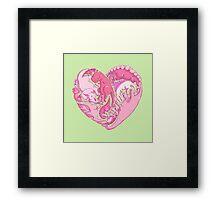 Loveasaurus Framed Print