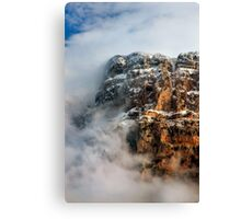 "Clouds surrounding the ""Towers"" of Astraka Canvas Print"