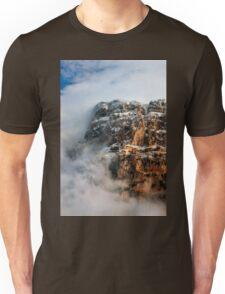"Clouds surrounding the ""Towers"" of Astraka Unisex T-Shirt"