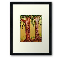 Old Trees with Character, watercolor Framed Print
