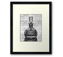 Perfume Bottle with Lines Framed Print