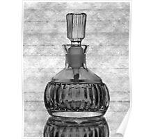 Perfume Bottle with Lines Poster