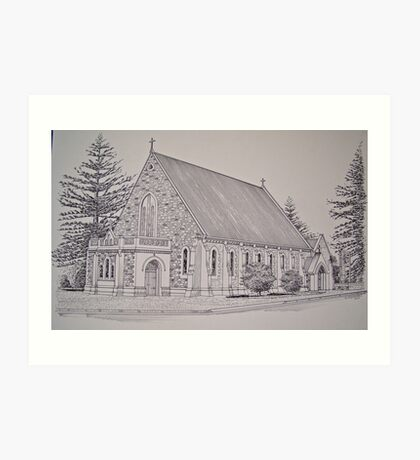A place of worship. Art Print