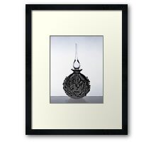 Perfume Bottle with Texture Framed Print