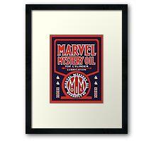 Marvel Mystery Oil vintage sign reproduction Framed Print