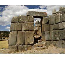 Doorway Into Sacsayhuaman Photographic Print