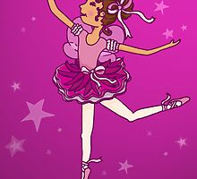 Ballerina Princess Birthday Card by Sarah Trett