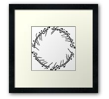 Lord of the Rings - The Ring (Black) Framed Print