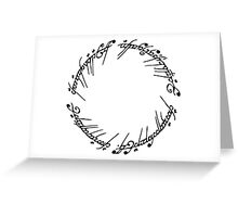 Lord of the Rings - The Ring (Black) Greeting Card