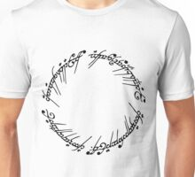 Lord of the Rings - The Ring (Black) Unisex T-Shirt