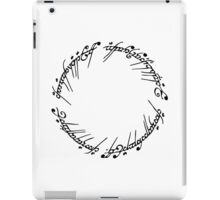 Lord of the Rings - The Ring (Black) iPad Case/Skin