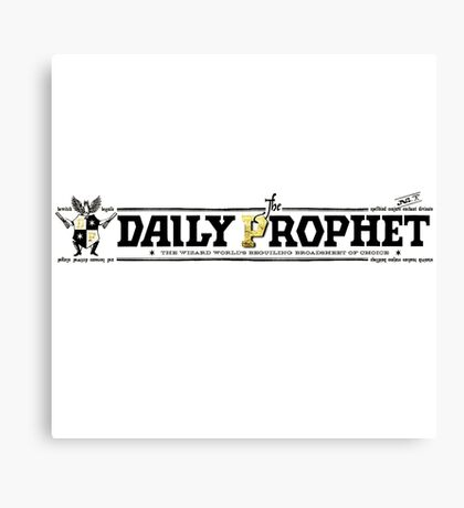The Daily Prophet Canvas Print