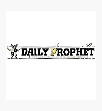 The Daily Prophet Photographic Print