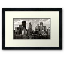 Window to Minneapolis Framed Print