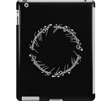 Lord of the Rings - The Ring (White) iPad Case/Skin